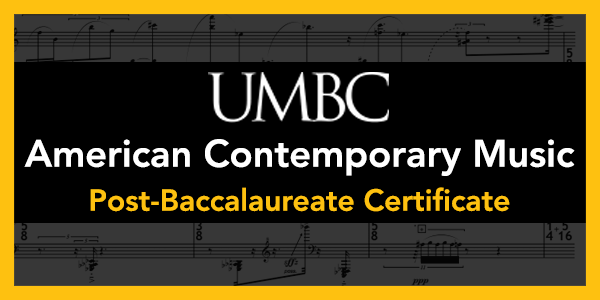American Contemporary Music Post-Baccalaureate Certificate
